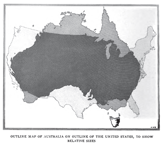Australia us comparison from national geographic 1916